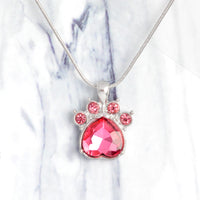 Birthstone Dog Paw Print Necklace