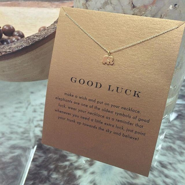 Good Luck Elephant Pendant Necklace Shobble