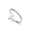 Semicolon Heart Ring - Sterling Silver .925