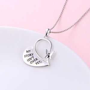 My Story Isn't Over Yet - Semicolon Necklace