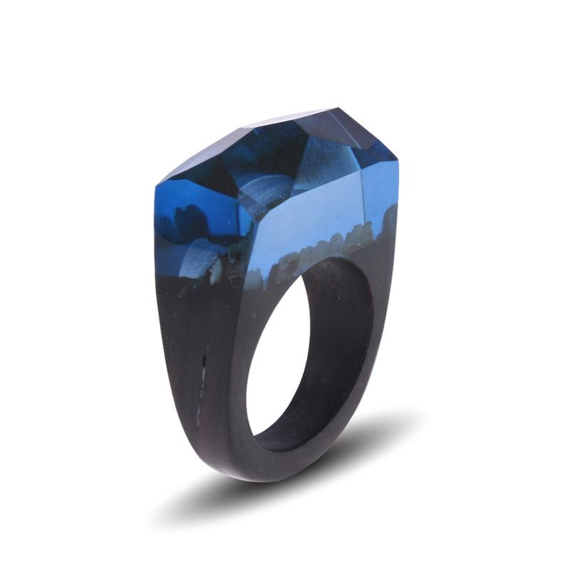 Blue Dusk Resin Ring - Shobble
