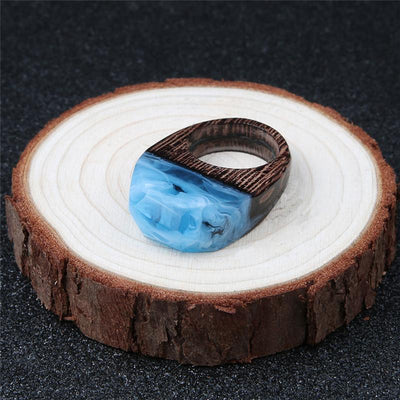 Carolina Ice Wooden Resin Ring - Shobble