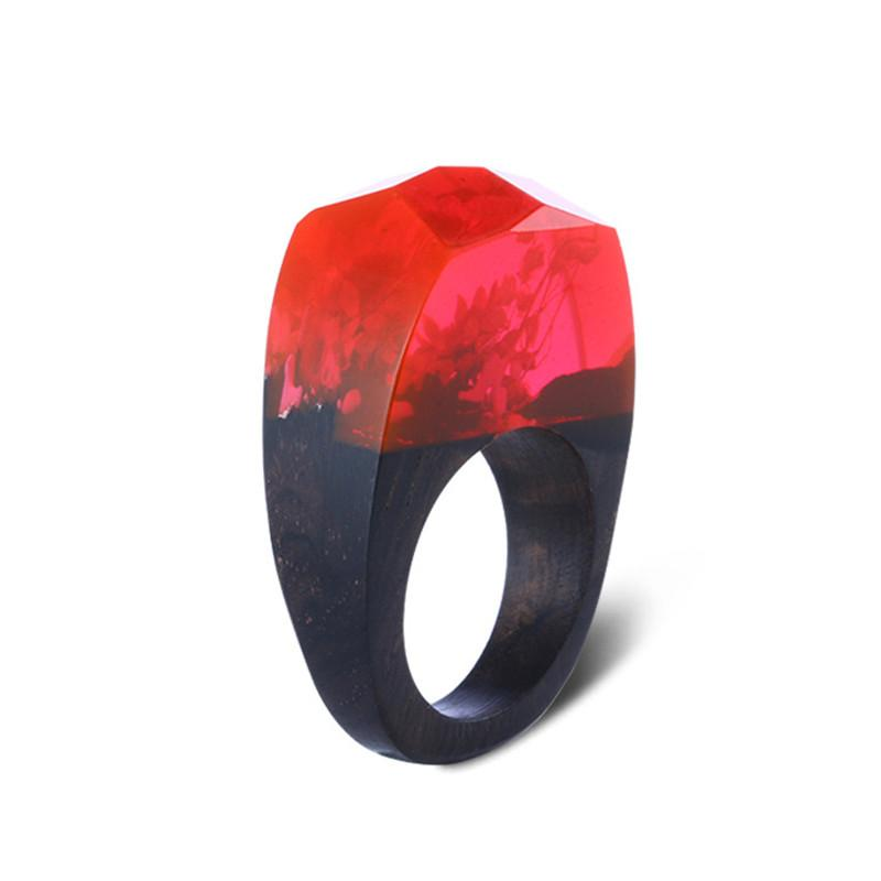 Crimson Night Resin Ring - Shobble