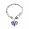 Crystal Heart Medical Alert Diabetic Bracelet -  FREE OFFER - Shobble