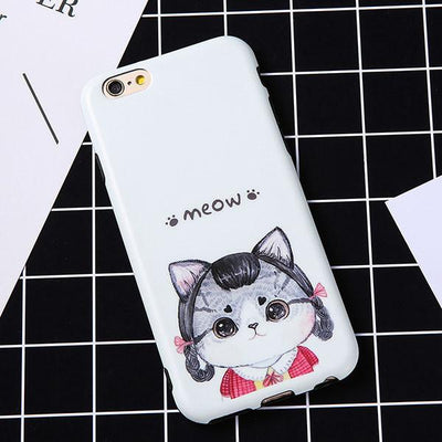 Cute Cartoon Cat Print Phone Case - Shobble