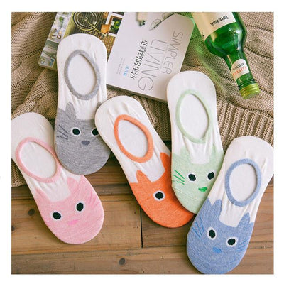 Cute Cat Sock 5-Pack - Shobble