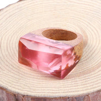 Flamingo Pond Wooden Resin Ring - Shobble