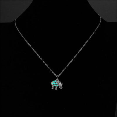 Glow In The Dark Elephant Necklace - Shobble