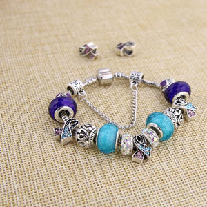 Handmade Suicide Awareness Charm Bracelet - Shobble