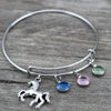 Horse Charm and Gems Bangle - Free - Shobble