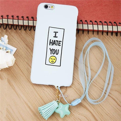 I Hate You Cartoon Smile Case for iPhone - Shobble