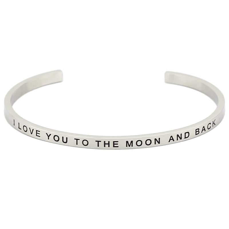 I Love You To The Moon And Back Bracelet - Shobble