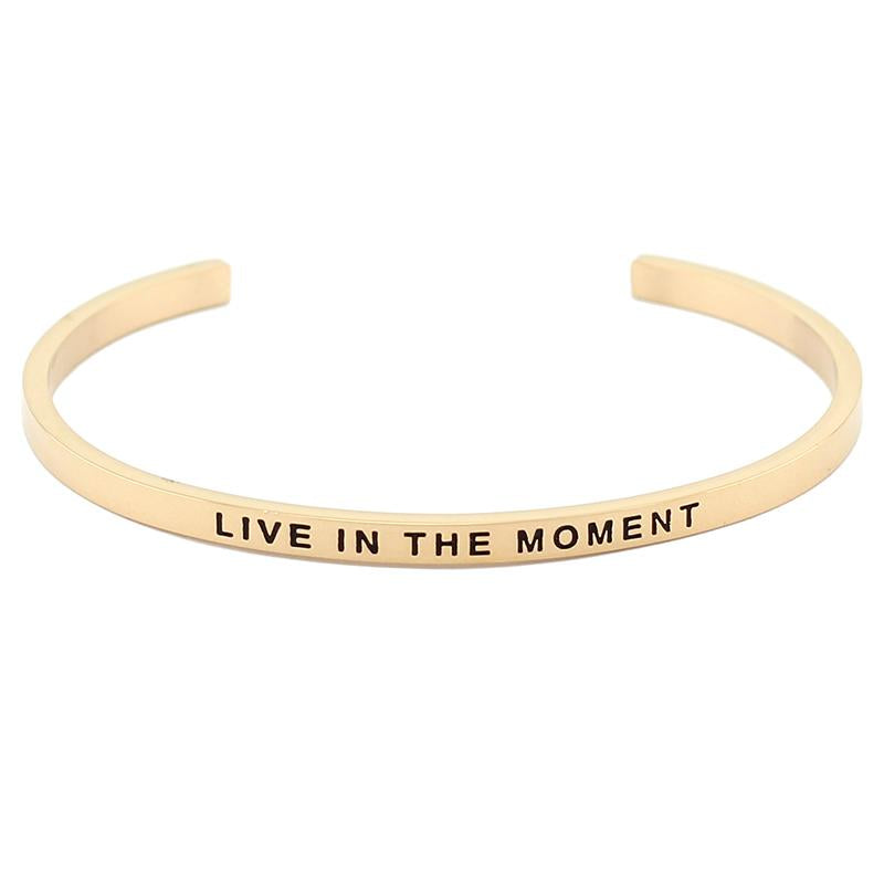 Live In The Moment Bracelet - Shobble