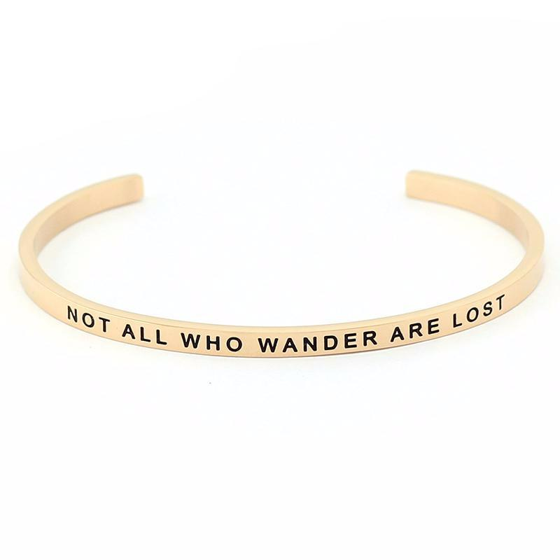 Not All Who Wander Are Lost Bracelet - Shobble