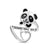 Panda Sterling Silver Ring - Always Love You