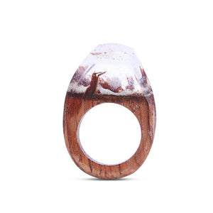 Pearl River Wooden Resin Ring - Shobble