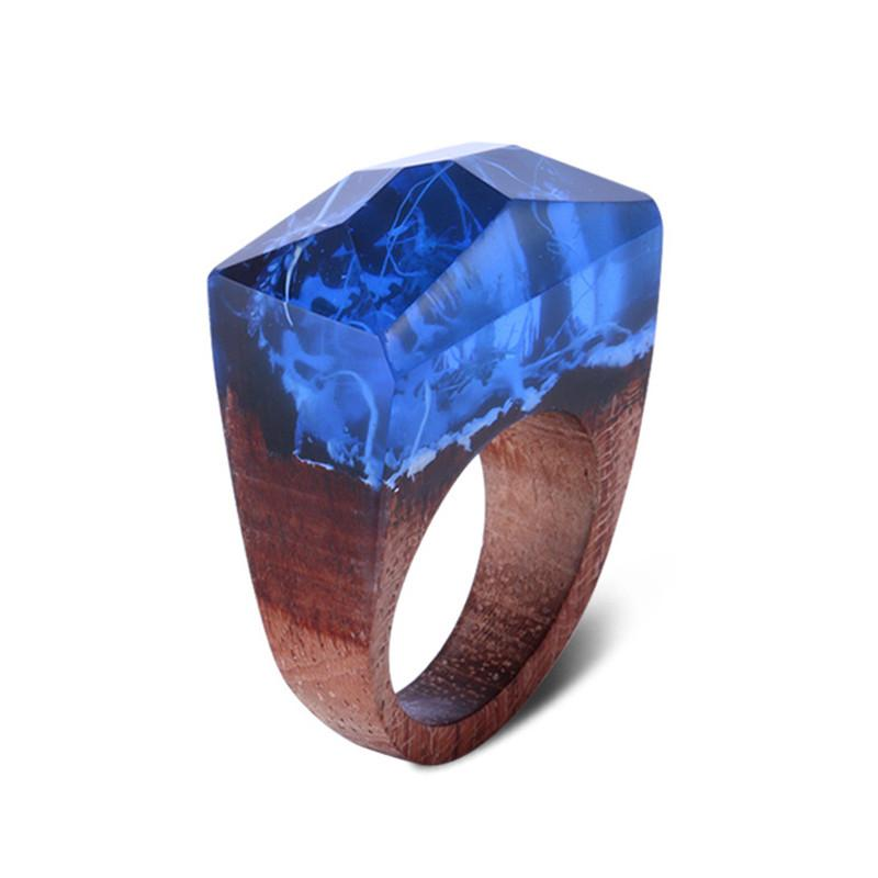 Sapphire of Olympus Resin Ring - Shobble