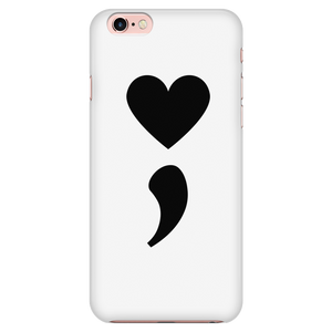 Semicolon Heart Phone Case - Shobble