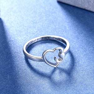 My Story Isn't Over Yet - Semicolon Heart Ring