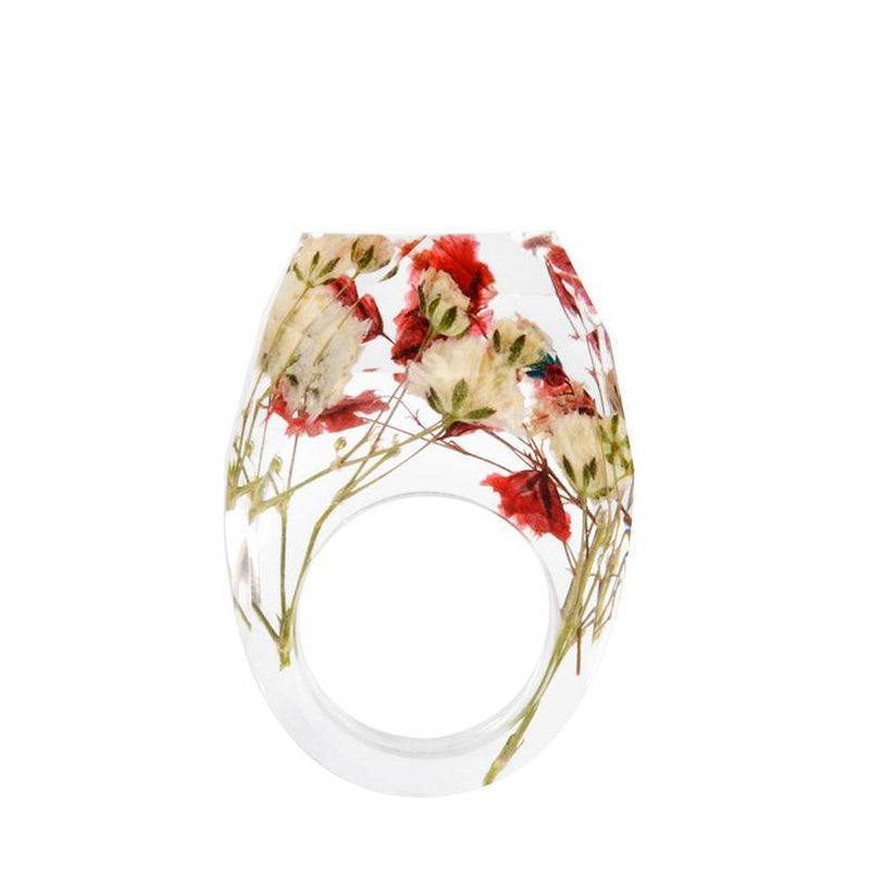 Serenity Dreams Resin Flower Ring - Shobble