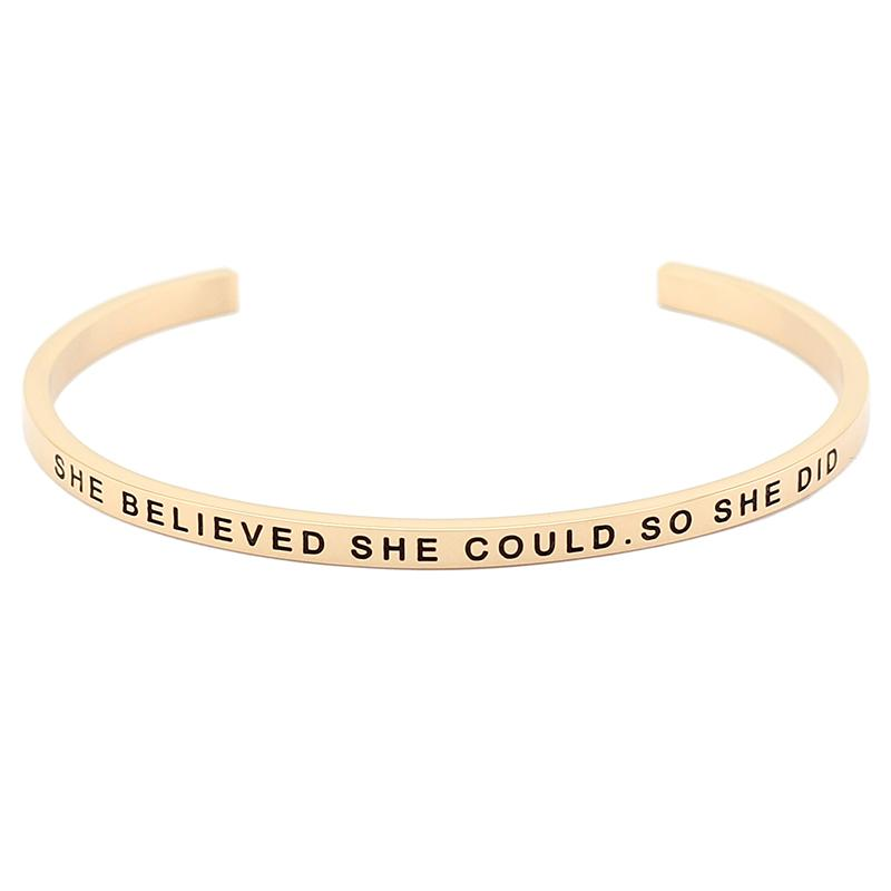 She Believed She Could. So She Did Bracelet - Shobble