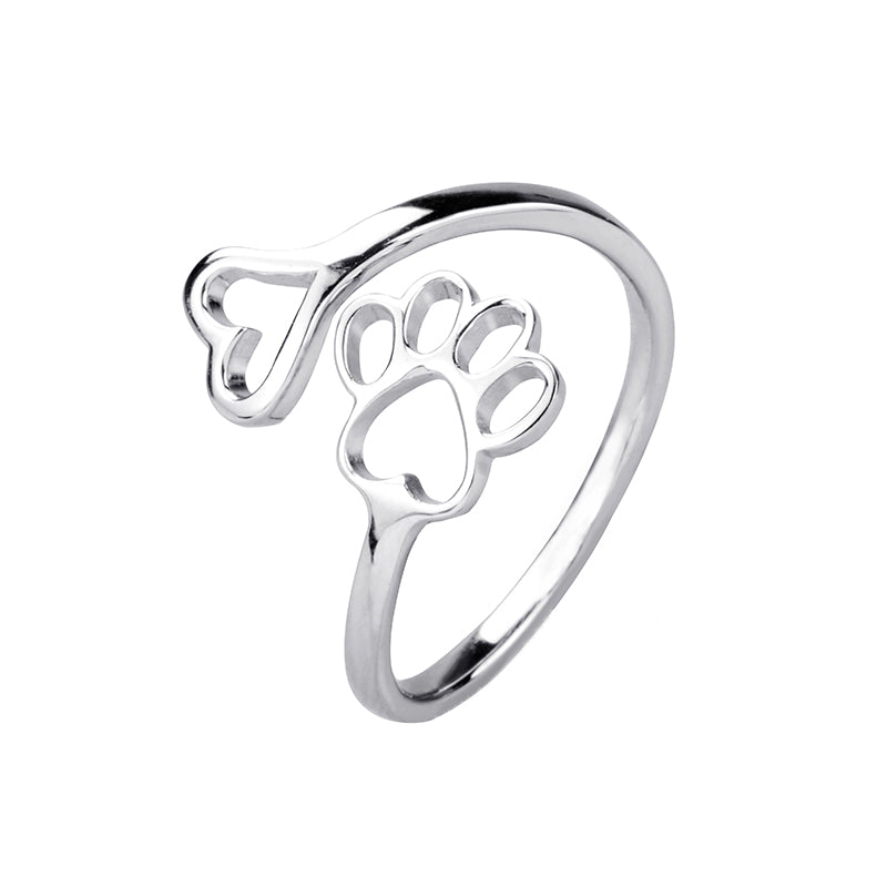 Dog Paw Sterling Silver Ring