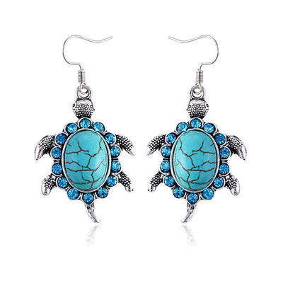 Tibetan Turtle Drop Earrings - Shobble
