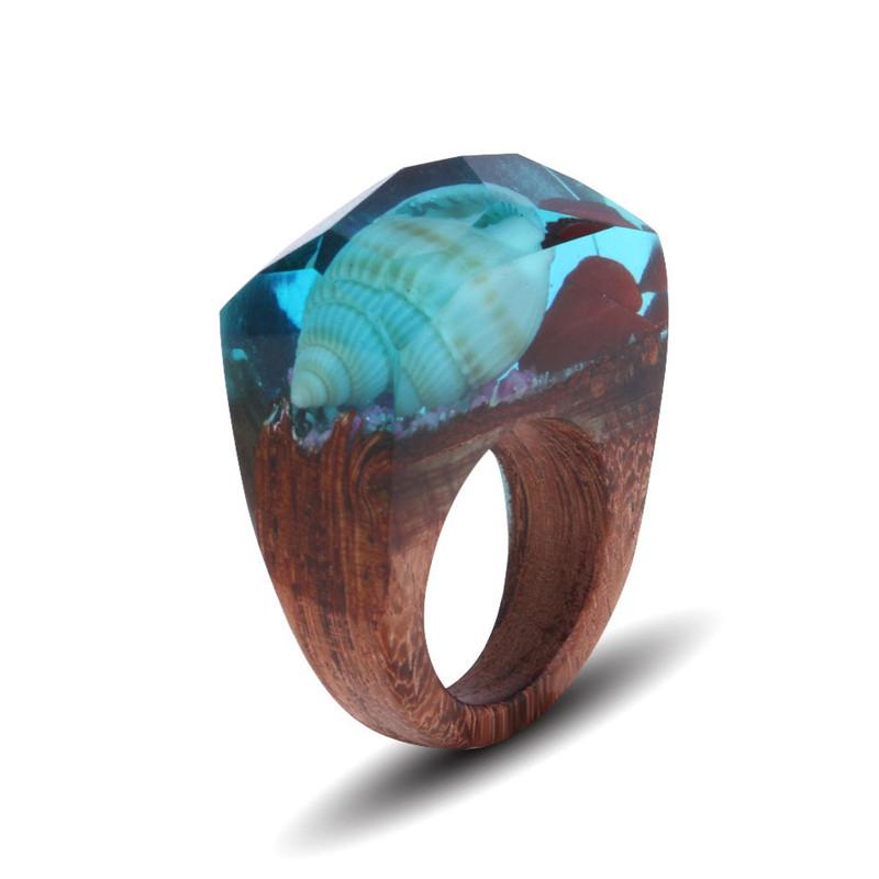 Turquoise Ocean Resin Ring - Shobble