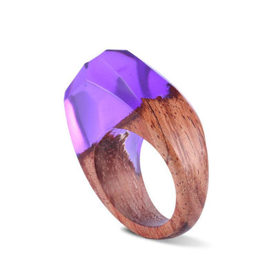 Violet Song Resin Ring - Shobble