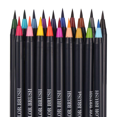 Watercolor Brush Pens - 20-Pack - Shobble