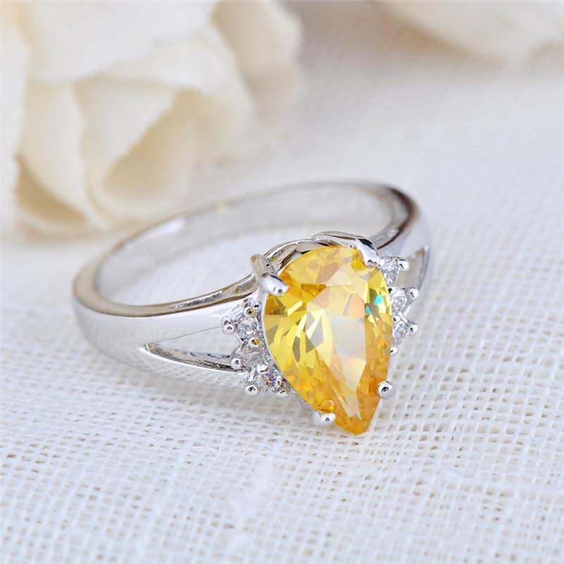 Yellow Topaz Gemstone Ring - Shobble