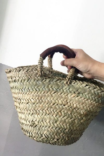 Leather Petite Basket