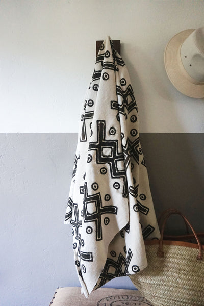 Malian Mudcloth Throw