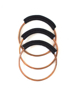 Copper + Leather Bangles