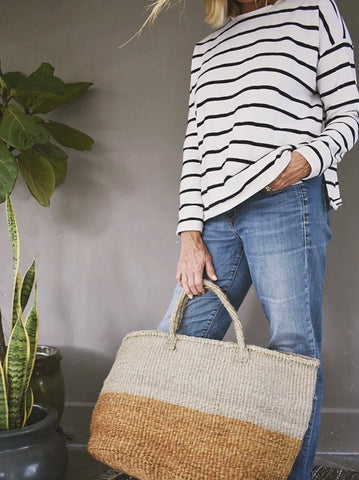 MASIZI Two-Tone Jumbo Shopper