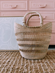 Open Weave Wing Shopper