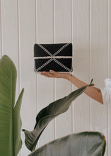 Load image into Gallery viewer, Black Beaded Clutch