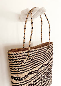 Patterned Straw Tote
