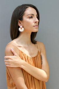Starburst Earrings - Cream