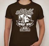 Ladies Desert Wolf Logo Brown