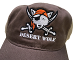 """Jolly Roger"" Wolf Mesh Hat - Brown"
