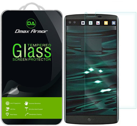 [2-Pack] LG V10 Screen Protector, Dmax Armor® [Tempered Glass] 9H Hardness, Anti-Scratch, Anti-Fingerprint, Bubble Free, Ultra-clear - [ Lifetime Warranty]