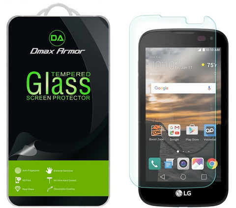 [2-Pack] LG K3 Screen Protector, Dmax Armor® [Tempered Glass] 9H Hardness, Anti-Scratch, Anti-Fingerprint, Bubble Free, Ultra-clear - [ Lifetime Warranty]