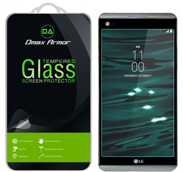 [2-Pack] LG V20 Screen Protector, Dmax Armor [Tempered Glass] 0.3mm 9H Hardness, Anti-Scratch, Anti-Fingerprint, Bubble Free, Ultra-clear
