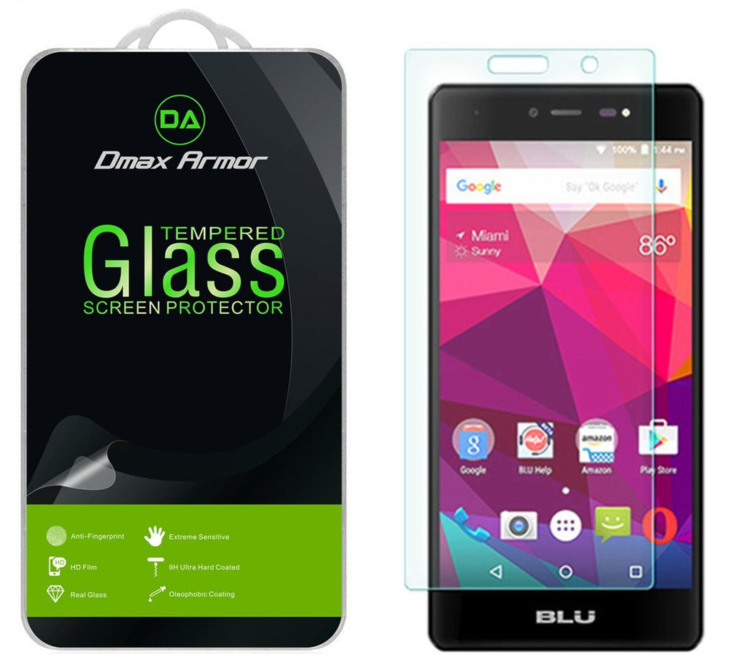 [2-Pack] BLU Life One X 4G LTE (2016) Screen Protector, Dmax Armor® [Tempered Glass] 9H Hardness, Anti-Scratch, Anti-Fingerprint, Bubble Free, Ultra-clear - [ Lifetime Warranty]