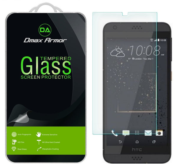 [2-Pack] HTC Desire 630 Screen Protector, Dmax Armor® [Tempered Glass] 9H Hardness, Anti-Scratch, Anti-Fingerprint, Bubble Free, Ultra-clear - [ Lifetime Warranty]