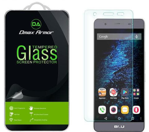 [2-Pack] BLU Energy X Plus Screen Protector, Dmax Armor® [Tempered Glass] 9H Hardness, Anti-Scratch, Anti-Fingerprint, Bubble Free, Ultra-clear - [ Lifetime Warranty]