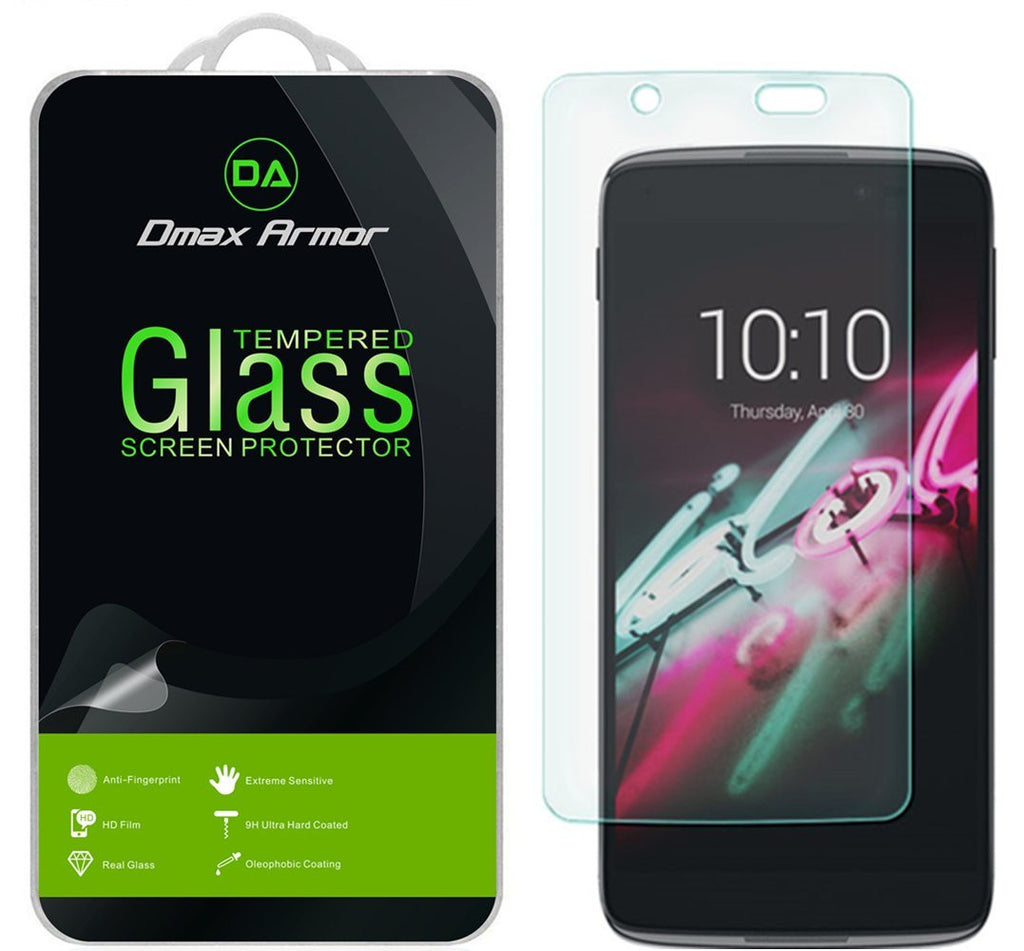 [2-Pack] Alcatel Idol 4 (5.2 Inch) Screen Protector, Dmax Armor [Tempered Glass] 0.3mm 9H Hardness, Anti-Scratch, Anti-Fingerprint, Bubble Free, Ultra-clear