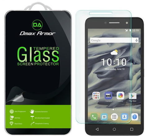 "[2-Pack] Alcatel PIXI 4 6"" LTE Screen Protector, Dmax Armor® [Tempered Glass] 0.3mm 9H Hardness, Anti-Scratch, Anti-Fingerprint, Bubble Free, Ultra-clear - [ Lifetime Warranty]"