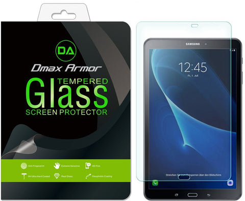 Samsung Galaxy Tab A 10.1 Screen Protector, Dmax Armor® [Tempered Glass] 99% Touch-screen Accurate, Anti-Scratch, Anti-Fingerprint, Round Edge [0.3mm] [ Lifetime Warranty]